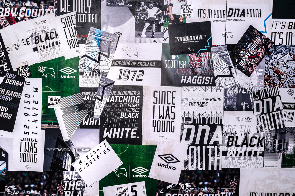 Derby County Football Club S Dynamic Bespoke Typeface Scores Several Typographic Goals Typeroom