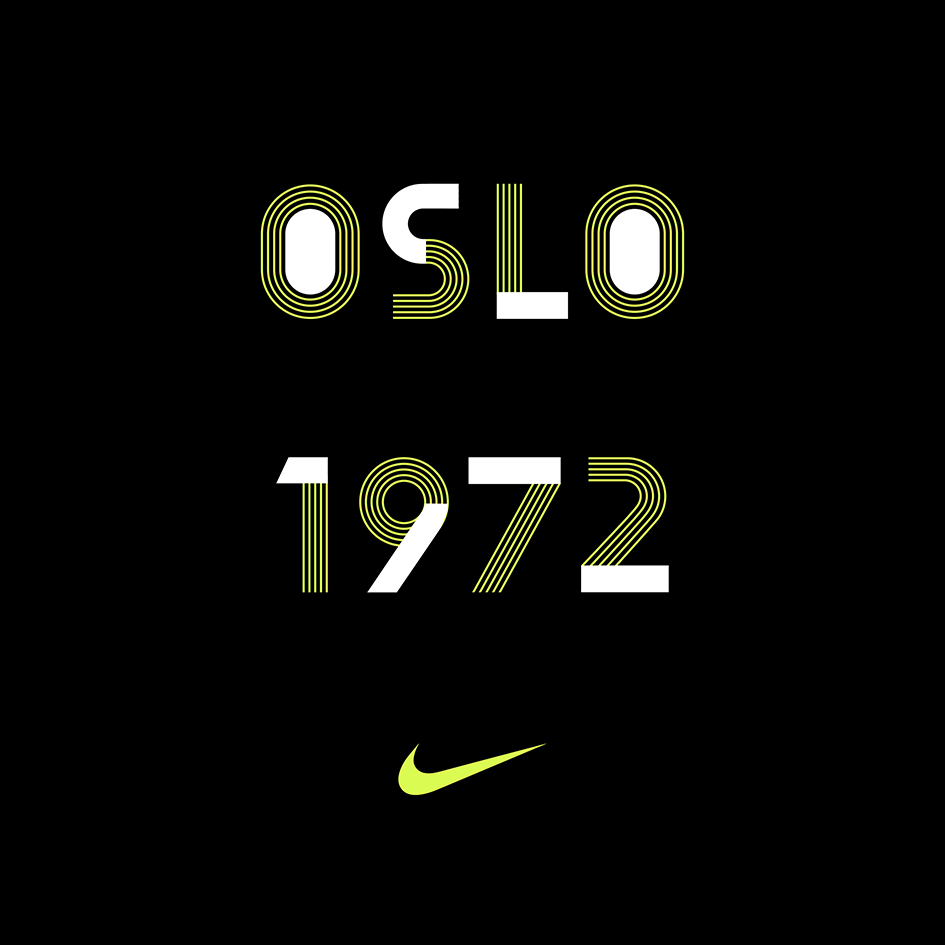 "precisamente Deliberar Mejora  Oslo"" custom typeface for Nike is an ode to Nordic design 