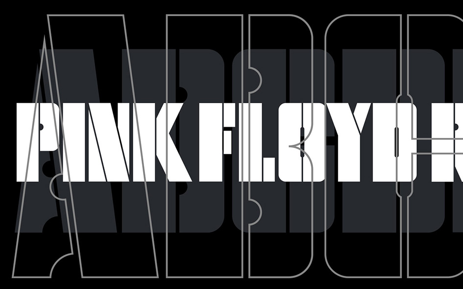 Pentagram S Stencilled New Visual Identity For Pink Floyd