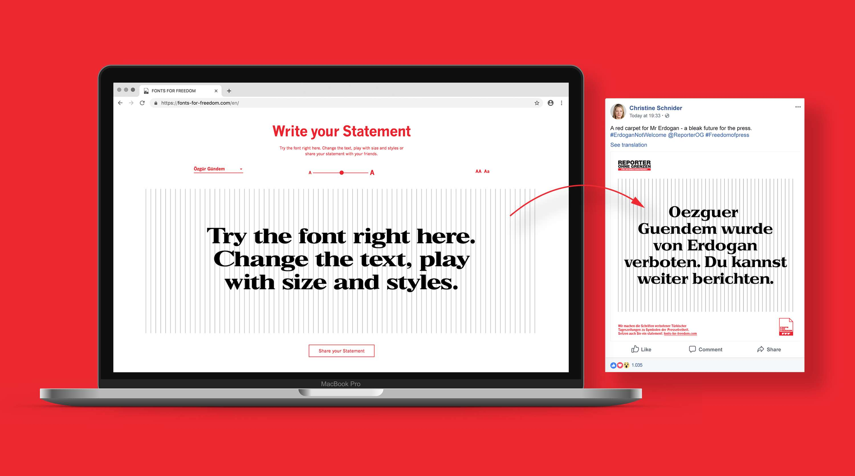 Fonts for Freedom: typography is the real weaponry for